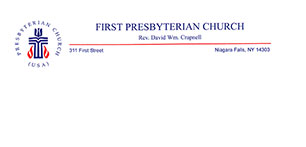 First Presbyterian Church Niagara Falls NY letterhead