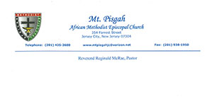 Mt. Pisgah African Episcopal Church letterhead